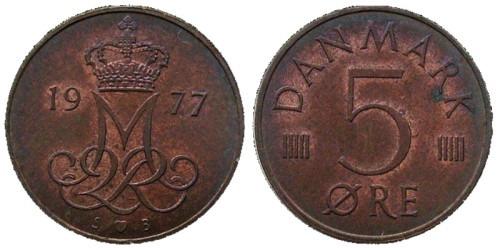 5 эре 1977 Дания