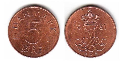 5 эре 1981 Дания