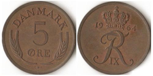 5 эре 1964 Дания