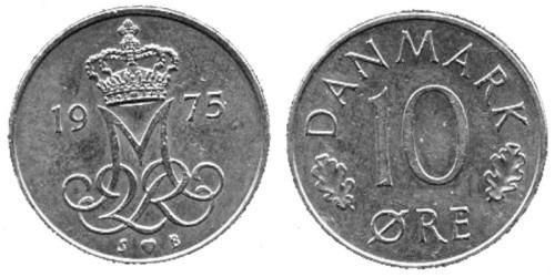 10 эре 1975 Дания