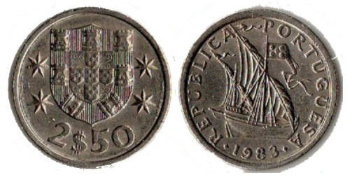 2.5 эскудо 1983 Португалия