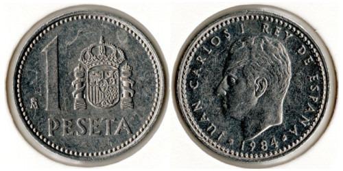 1 песета 1984 Испания