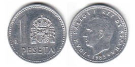 1 песета 1985 Испания