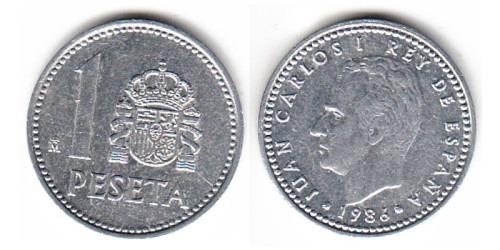1 песета 1986 Испания