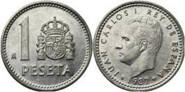 1 песета 1987 Испания