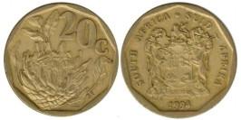 20 центов 1994 ЮАР