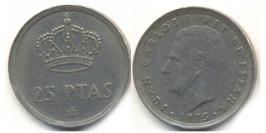 25 песет 1975 Испания — 79 внутри звезды