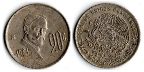 20 сентаво 1981 Мексика