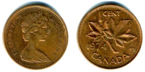 1 цент 1974 Канада