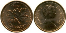 1 цент 1983 Канада