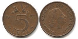 5 центов 1963 Нидерланды