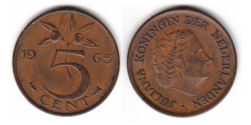 Нидерланды 5 центов 1998 карта начинается на 5469