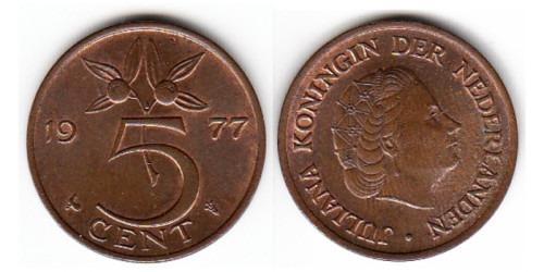 5 центов 1977 Нидерланды