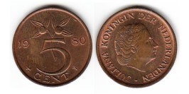 5 центов 1980 Нидерланды