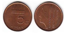 5 центов 1984 Нидерланды