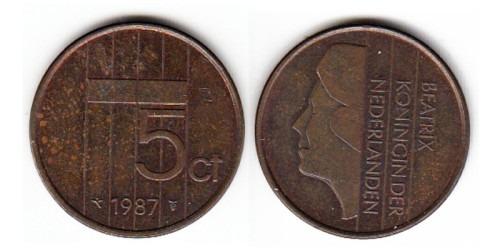 5 центов 1987 Нидерланды