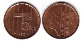 5 центов 1990 Нидерланды