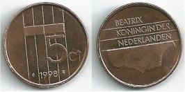 5 центов 1998 Нидерланды