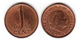1 цент 1954 Нидерланды