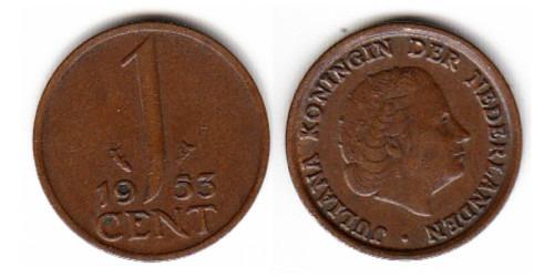 1 цент 1953 Нидерланды