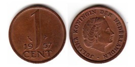 1 цент 1957 Нидерланды