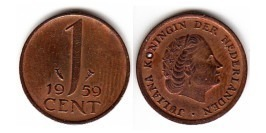 1 цент 1959 Нидерланды