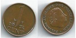 1 цент 1974 Нидерланды