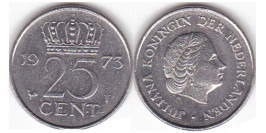 25 центов 1973 Нидерланды