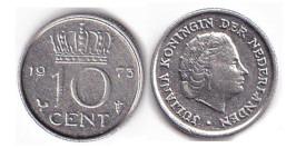10 центов 1973 Нидерланды