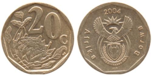 20 центов 2004 ЮАР