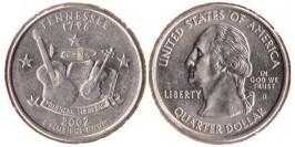 25 центов 2002 D США — Теннесси UNC