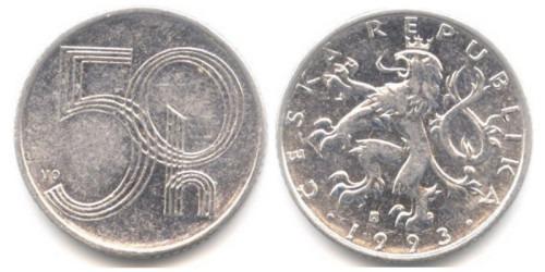 50 геллеров 1993 Чехия