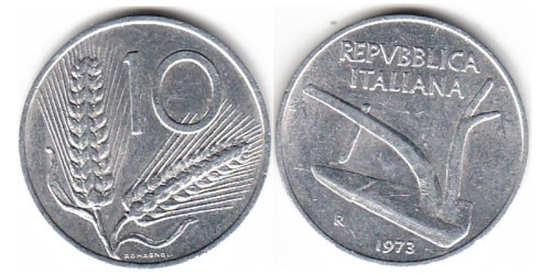 10 лир 1973 Италия