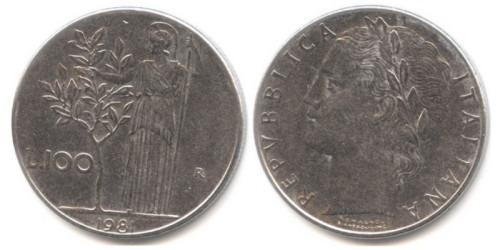 100 лир 1981 Италия