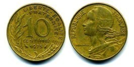 10 сантимов 1975 Франция