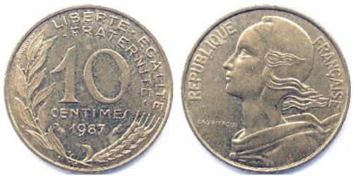 10 сантимов 1987 Франция