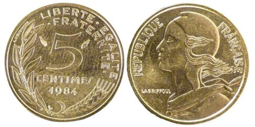 5 сантимов 1984 Франция
