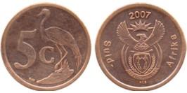 5 центов 2007 ЮАР
