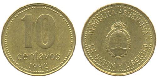 10 сентаво 1992 Аргентина