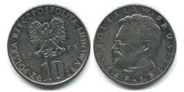 10 злотых 1975 Польша — Болеслав Прус