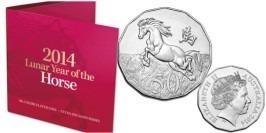50 центов 2014 Австралия — Лошадь — Лунная серия