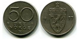 50 эре 1977 Норвегия
