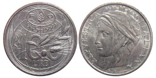 100 лир 1995 Италия — F.A.O. (Продовольственная и сельскохозяйственная организация ООН)