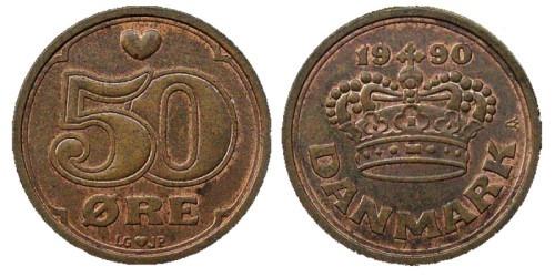 50 эре 1990 Дания