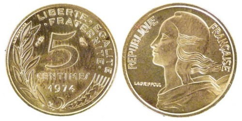 5 сантимов 1974 Франция