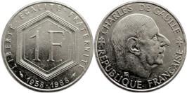 1 франк 1988 Франция — 30 лет Пятой Республике