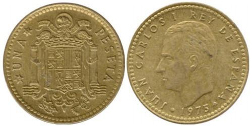 1 песета 1975 Испания — 77 внутри звезды