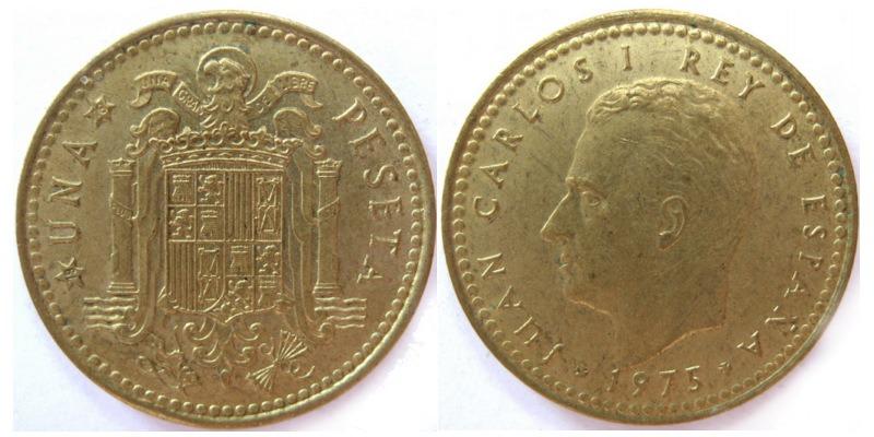 1 песета 1975 монеты ливии