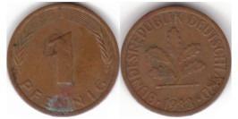 1 пфенниг 1983 «J» ФРГ