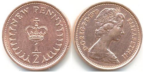 1/2 пенни 1979 Великобритания